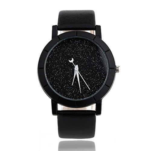 Vovotrade Moda Bella Donna Uomo Stella minimalista orologi di moda per gli amanti cinturino in pelle