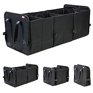 achilles Vario-Box Faltbarer Auto-Organizer größenverstellbare Kofferraum-Tasche-Korb mit Klettbefestigung am Boden…