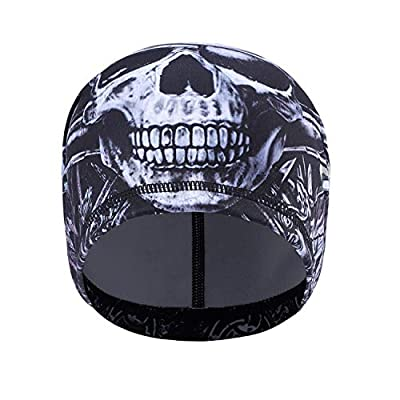 TAGVO Cycling SKull Cap, Sports Headwear Beanie Hats with Ear Covers Windproof Helmet Liner for Adults Men and Women - Stretchable Fit for Most by TAGVO