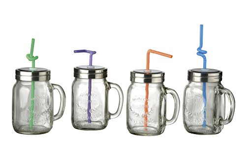 Oasis Game of 4 Jars Style Jar with Straw