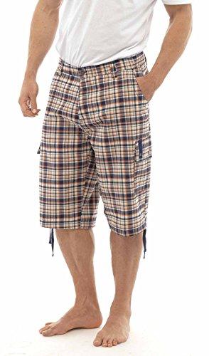 Mens-Wooven-Check-Shorts-Pants