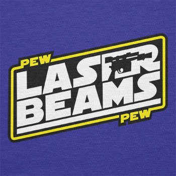 Texlab–Pew Pew Laser Beams–sacchetto di stoffa Marine