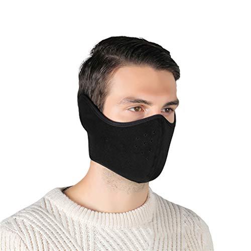 Marico Nahum Mund Maske Wärmer Baumwolle Vlies Maske Anti Staub Gesicht Muffel Maske für Männer Damen, volle Ohren Schutz für Ski Fahrrad Motorrad, halbe Gesichtsmaske
