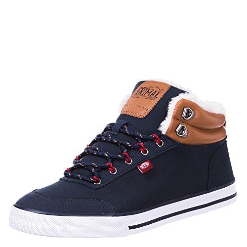 Animal - Enzo - Sneaker alte alla caviglia con pelliccia sintetica - Uomo Blu eclissi