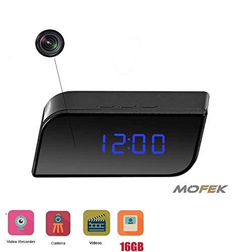 er von Mofek als Anti-Diebstahl-Gerät mit 1080P für die Sicherheit Ihrer Familie, im Büro oder Zimmer mit Infrarot-Nachtsicht, Video Recorder und 16GB Speicherkarte ()