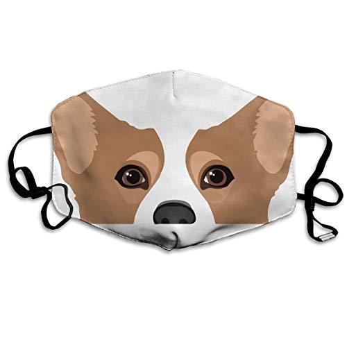 Gesichtsmaske für Jungen und Mädchen, staubdicht, hypoallergen, Anti-Allergien, mit Ohrschlaufe, Gesichts- und Nasenschutz, winddicht, Polyester-Maske, verstellbarer Riemen, süße (C3po Kostüm Mädchen)