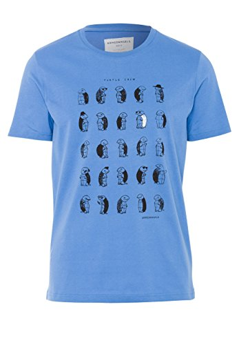 ARMEDANGELS Herren T-Shirt aus Bio-Baumwolle - James Turtle Crew - GOTS, ORGANIC, CERES-008 Dusk Blue