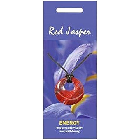 Diaspro rosso collana/ciondolo naturale per l
