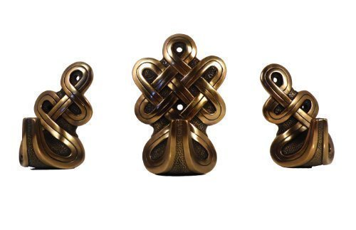 Set di tre Finitura Bronzo Bronzo Fusione A Freddo Nodo Celtico Ganci (Fusioni Freddo Bronzo)