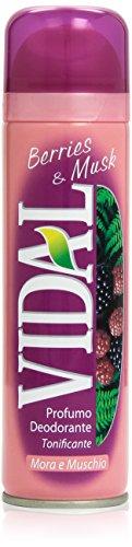 Vidal - Mora e Muschio, Profumo Deodorante Tonificante, 150 ml