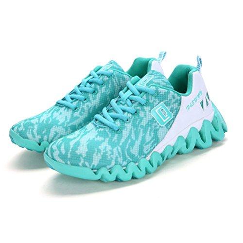 Damen-Mode-Basketball-Schuhe Sommer und Herbst atmungsaktive rutschfeste Casual Sportschuhe zum Laufen gehen Klettern , Green , 37 (Adidas-basketball-frau-schuhe)