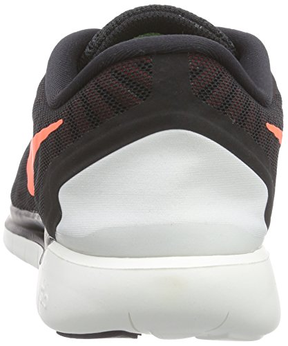 Nike Free 5.0, Chaussures de Sport Homme noir (Black/Hypr Orng-Unvrsty Rd-Wht)