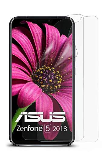2X Asus Zenfone 5 (2018) | Schutzfolie Matt Bildschirm Schutz [Anti-Reflex] Screen Protector Fingerprint Handy-Folie Matte Bildschirmschutz-Folie für Asus Zenfone 5 (2018) Bildschirmfolie