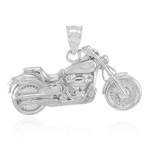Kleine Schätze - 925 Sterling Silber Motorrad-Anhänger Halskette (Kommt mit Eine 45 cm Kette)