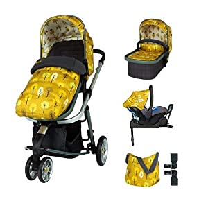 Cosatto Giggle 3 Travel System in Spot The Birdie with Car Seat Base Bag footmuff & Raincover   12