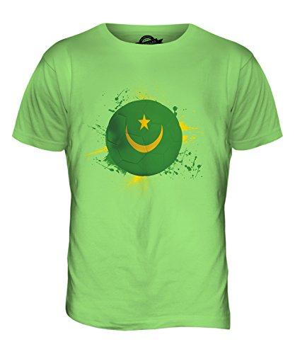 CandyMix Mauretanien Fußball Herren T Shirt Limettengrün