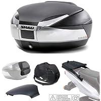 SHAD - KIT-SHAD-1821/214 : Kit fijacion y maleta baul trasero titanium + respaldo + bolsa + tapa SH48 BMW F800 GT ´13