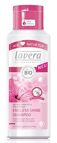 lavera Endless Shine Shampoo Bio-Malve und Avocado - Haarpflege für mattes glanzloses Haar 2er Pack (2 x 200 ml)