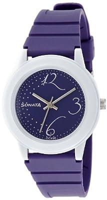 Sonata Fashion Fibre Analog Black Dial Women's Watch -NJ8992PP02C