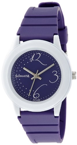 Sonata Fashion Fibre Analog Black Dial Women's Watch -NJ8992PP02C