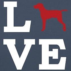 Love Vizsla Dog Silhouette - Unisex Sweatshirt / Sweater - 8 Colours