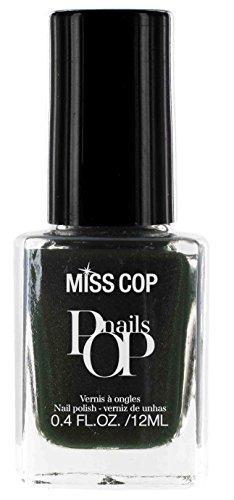 Miss Cop Vernis à Ongles Pop Nails Olive Noire 12 ml