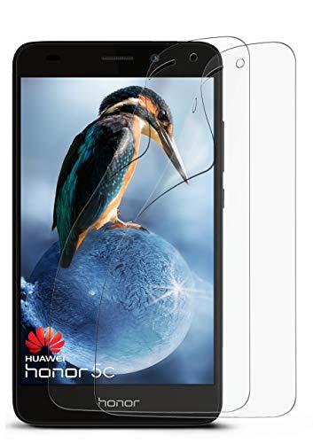 2X Huawei Honor 5C | Schutzfolie Matt Display Schutz [Anti-Reflex] Screen Protector Fingerprint Handy-Folie Matte Displayschutz-Folie für Honor 5C / Honor 7 Lite/Huawei GT3 Displayfolie