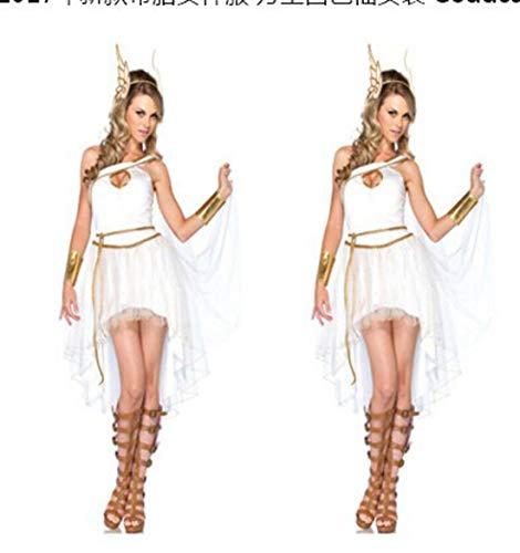 Tianxinshop Griechische Göttin Kleid, Sexy Kleid Antik Griechisch, Weiß