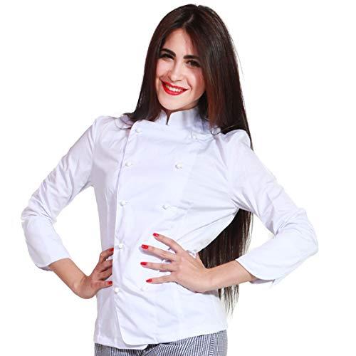 TCD Giacca Bordeaux Casacca da Chef Cuoco Personalizzata con Ricamo Nome