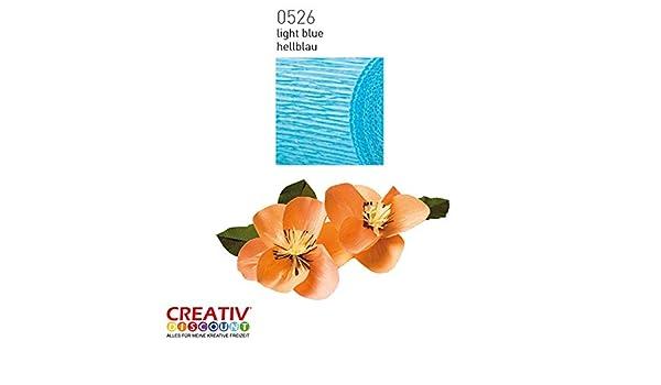 CREATIV DISCOUNT/® NEU Floristen Krepp-Papier 50x250cm Blau