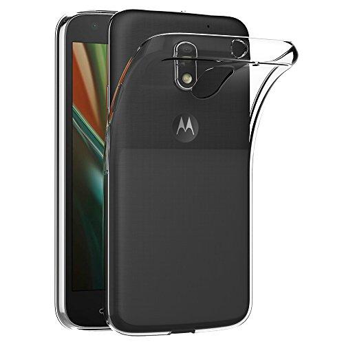 AICEK Lenovo Moto E3 Hülle, Transparent Silikon Schutzhülle für Motorola Moto E3 Case Crystal Clear Durchsichtige TPU Bumper Moto E3 Handyhülle