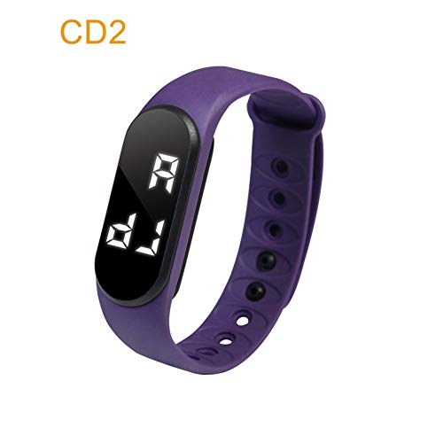 Nicololfle 3D Silikon Armband Uhr/Armband Schrittzähler Schrittzähler Fitness Band Aktivität Touchscreen Tracker Für Kinder/Männer / Frauen (Lila)