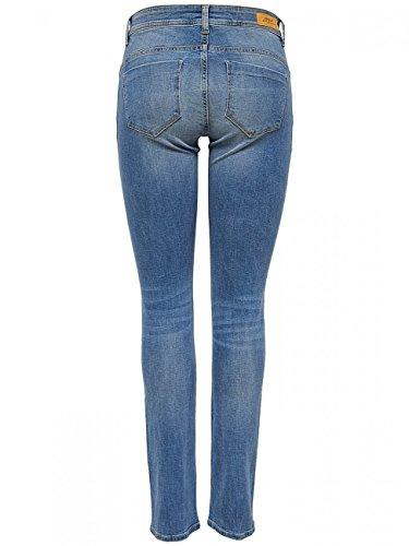 Only Damen Jeans onlSISSE RG SLIM DNM JEANS SOO1273H - Slim Fit - Blau - Medium Blue Medium Blue Denim (15147164)