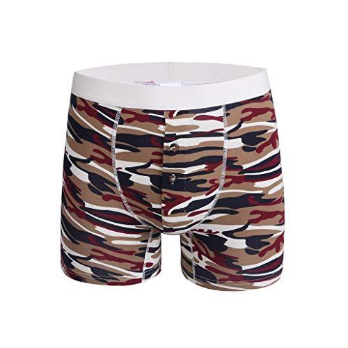 Herren Boxershort Underwear, ODRD Unterwäsche Männer Heiße Art und Weisetarnung Bunte Bequeme Bouncy 100% Baumwolle Plus Größe Sexy Slips Retroshorts Slip Dessous Pants Unterhosen Boxer Shorts (Mann Im Käfig Kostüm)