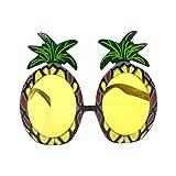 STOBOK Un Paquete de 2 Piezas en Forma de piña Hawaiana Gafas Divertidas Gafas de Sol Tropicales Hawaianas para el Verano Disfraz Fiesta de Disfraces Foto Accesorios (Amarillo)
