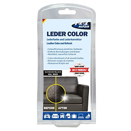 Repair 123Repair Lederfarbe - Ledercouch wie Neu - Lederfärbemittel - Schwarz 57ml