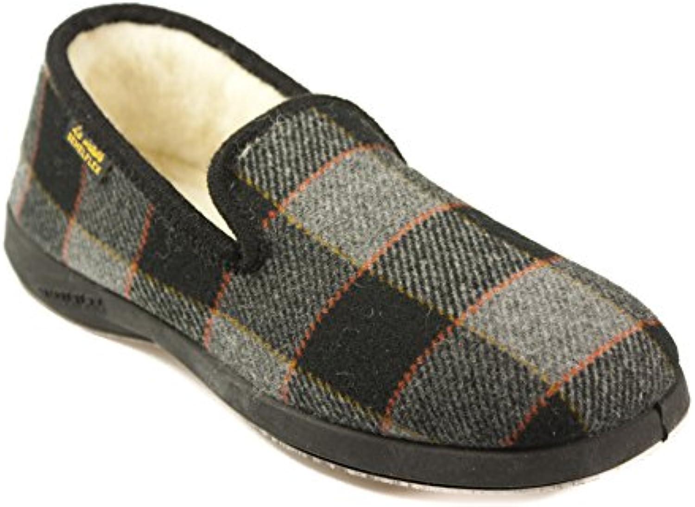 SEMELFLEX - Zapatillas de Estar Por Casa de fieltro Hombre