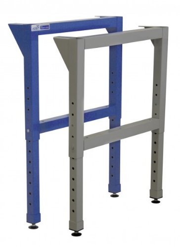 ADB Werkbankfuß H600-1000xT700 mm höhenverstellbar RAL 5012 | 7035, Farbe (RAL):Lichtblau (RAL 5012)