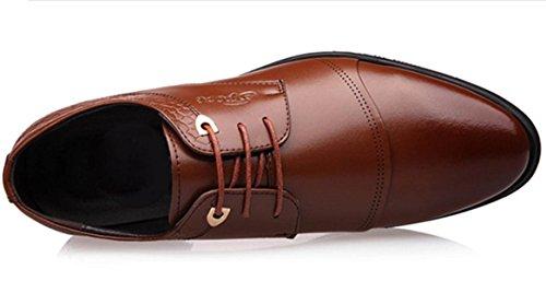 Chensh Décontracté Tête En Cuir Hommes Chaussures D'affaires Sports Chaussures De Mariage En Plein Air Brown