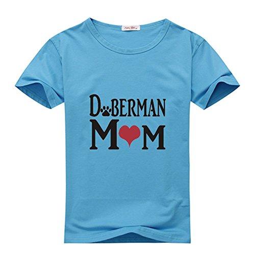 Yilaicustom Personalized DIY Custom Doberman Classic Women T-Shirt blue_1
