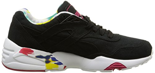 Puma Damen R698 Blur Sneaker, Schwarz Noir (Black/White/Rose Red)