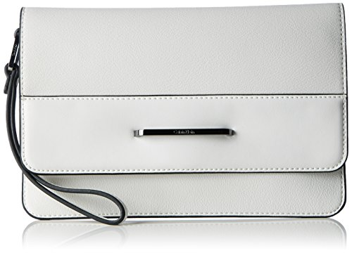 Calvin Klein HEATH3R Clutch, Sacchetto Donna, 2x17x25 cm (b x h x t) Bianco (Powder White)