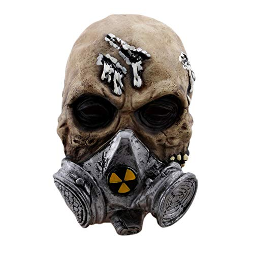 SEVENHOPE Zauberer Halloween Horror Dress up Maske Scary Maske ()