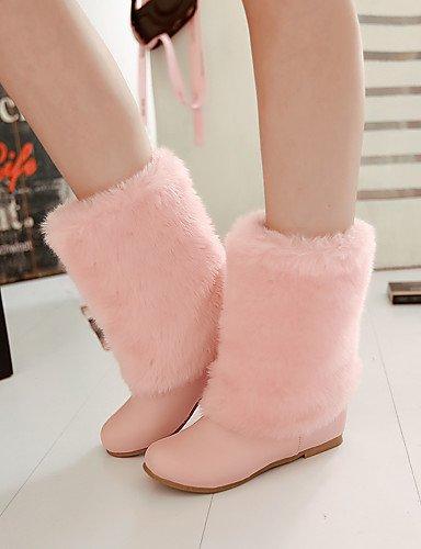 ShangYi Mode Frauen Schuhe Damen Stiefel Frühjahr / Herbst / Winter Keile / Schnee / Stiefel Stiefel Kunstleder / Outdoor Fashion and Keilabsatz Andere Rosa