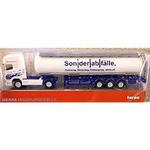 Herpa 066181 - Modellino trattore stradale con semirimorchio cisterna Scania R TL Ast Birrer (CH)Â