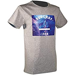 BEUCHAT Photo T- T-Shirt Homme, Gris, FR : 2XL (Taille Fabricant : XXL)