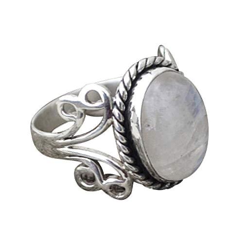 1PC Boho Schmuck Silber natürlichen Edelstein Marquise Mondstein Personalisierte Ring YunYoud opalringe modeschmuck damenring trauringe fingerring plastikringe hübsche Ringe