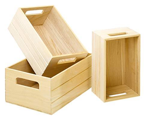Holzkiste 3er Set