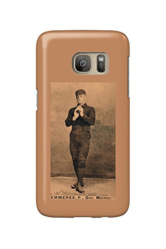Des Moines Minor League - R. Emmerke - Baseball Card (Galaxy S7 Cell Phone Case, Slim Barely There) (Des Moines R)