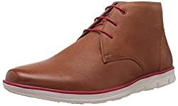 Bata Mens Nate Tan Leather Boots - 10 UK/India (44 EU) (8044191)
